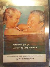 "1963 Bell Telephone ""Good Housekeeping"" Magazine Ad ""Wherever you go.."""