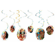 Disney MOANA Hanging Swirl Decorations Girls Birthday Party Supplies Dangler ~ 6