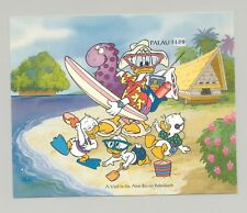 Palau #342 Disney, Water Sports, Surfing 1v S/S Imperf Chromalin Proof
