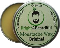 Unfragranced Moustache Wax Strong Hold for Styling Handlebar Twists & Curls 15ml