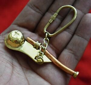 Whistle Key Chain Solid Brass And Copper Whistle Maritime Bosun Naut Gift BM429
