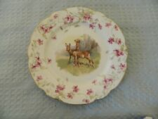 Imperial Crown China Austria Porcelain Tea/Salad Plate Deer Theme in Center