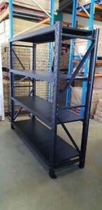 Light Duty Garage Shelving-BLACK- 2000Hx2000Lx600D 4 tiers