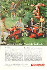 1967 Vintage ad for Simplicity Lawn Garden Tractor Photo Retro  062517