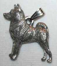 Norwegian Elkhound Dog Harris Fine Pewter Pendant Jewelry USA Made