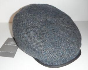 STETSON NEWSBOY CAP HAT NEW VIRGIN WOOL 57CM MEDIUM