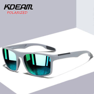 KDEAM Square Polarized Sunglasses Men Outdoor Sport Sunglasses Photochromic