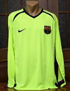 Barcelona 2005/06 Football Soccer Away Shirt Jersey Long Sleeve