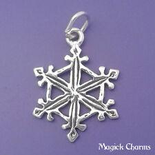 925 Sterling Silver SNOWFLAKE Christmas Charm Pendant - sc476