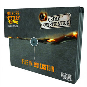 Murder Mystery Case Files Unsolved Crimes Fire in Adlerstein Board Game NEW