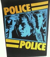 THE POLICE 'GROUP' vintage printed backpatch  STING