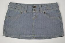 "Guess Jeans Womens Railroad Stripe Chevron Mini Denim Jean Skirt size 31 (32"")"