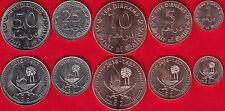 "Qatar set of 5 coins: 1 - 50 dirhams 2016 ""Tamim"" UNC"