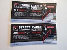 LOT of 2 STREET LEAGUE DC PRO TOUR SKATEBOARDING TICKET VOUCHERS 2011 ROB DYRDEK