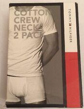 Nuevo Y En Caja Para Hombre Tommy Hilfiger 2 paquete de Algodón de Cuello Redondo Ss Tee/Camiseta Talla Grande Negro