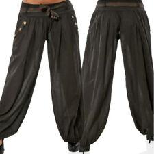 donna largo pantaloni Harem Yoga Palestra Danza Hippie Boho GITANO palazzo