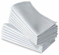 White Napkins Restaurant Cotton Linen Dinner Serving Hotel Cloth 50x50cm 12 Pcs
