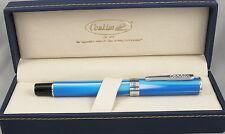 Conklin Stylograph Arctic Blue & Chrome Fountain Pen - Extra Fine Nib - New