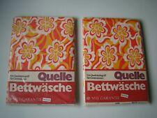 70er Flower Power DDR QUELLE Bettwäsche Bettwäsche 130x200cm VINTAGE  in OVP