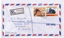 BQ48 1971 Jamaica Kingston Air Mail Cover Devon Great Britain PTS