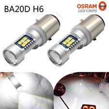 2X BA20D H6 Hi/Lo 3030 21SMD LED Motorcycle Headlight Front Bulb Lamp Fog Light