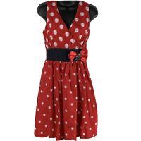 Walt Disney Parks Minnie Mouse Red White  Polka Dot Women's Dress Size XS
