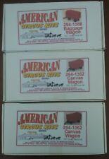 3- American Circus  HO Gauge 2 Canvas Wagons, 1 Baggage Wagon NOS