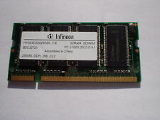 256MB PC2100 DDR 266 Non-ECC CL2.5 200 Pin SO-DIMM Memory For Laptop Notebook