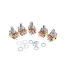 5X Dual Stereo Potentiometer Pot WH148 50K Ohm R Linear Shaft 15mm 6Pin ~QA