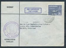 NED.ANT.,25 CT. 383 VOOR LUCHTRECHT,K.B. CURACAO DR.A.PLESMAN LUCHTHAVEN 4 Zj757