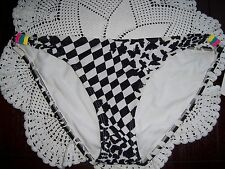 Hobie - Womens Bikini Swimwear Bottoms - Size XL - black/white - lined
