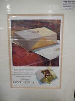 Original 1950 Vintage Advert mounted ready to frame Cadburys Continental