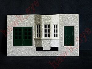Plasticville Suburban Station White Front Piece W/Windows & Door O-S Scale