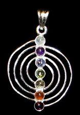 PENDANT - CHAKRA ENERGY SPIRAL Crystals with Description - Healing, Reiki Stone