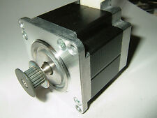 "NEMA 23 Stepper Motor w/2mm Pitch Pulley -""NEW"" CNC Mill Robot Lathe RepRap  P7V"