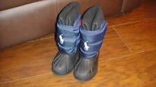 RALPH LAUREN NAVY BLUE WINTER SNOW BOOTS TODDLER SZ 6 BOYS