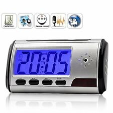 Digital Clock Covert Hidden Spy Nanny Color Camera DVR With Audio