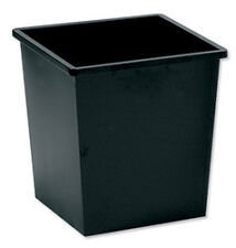 WASTE BIN METAL SQUARE Iron  27 Litres Black  NEW !!