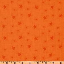 Riley Blake ~ Fox Trails ~ By Doohikey Designs Designs ~ C2685 ~ Orange Stars