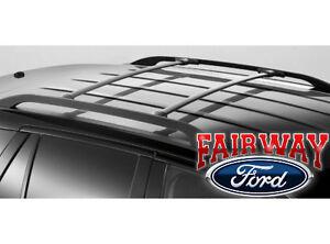 2007 thru 2014 Edge MKX OEM Genuine Ford Black Roof Rack Side Rail Set
