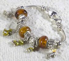 Love Dogs Silver tone European Bracelet with dog charms - Add-a-Bead Charm