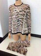 Roberto CAVALLI SIMONETTA Outfit Set Taglia S/166 età 16 ANNI Maglione Legging in buonissima condizione