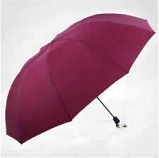60inch Large Umbrella Men/Women Three Folding Anti-UV Windproof Rain Umbrella