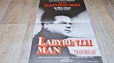 david lynch  ERASERHEAD labyrinth man !  affiche cinema 1977