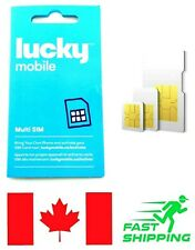 New Lucky Mobile Triple Format Prepaid SIM Card  4G  LTE  CANADA Travel