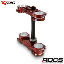 New Xtrig Rocs Pro Triple Clamp Set CRF 450 R 2017 17 OS 22mm M12 CRF450 Bronze