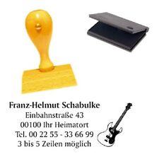 Adressenstempel « E-GITARRE » mit Kissen - Firmenstempel - Musiklehrer Gitarrist