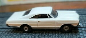 Aurora HO Tjet Original #1386 '67 Ford GALAXIE XL500 in WHITE with chassis