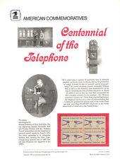 #63 13c Telephone Centennial #1683 USPS Commemorative Stamp Panel