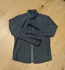 Wool & Prince Grey Herringbone Shirt XS